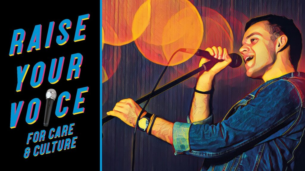 """A poster for the """"Raise your Voice"""" event."""
